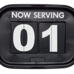 now serving number sign