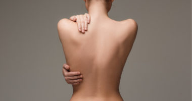 back of nude woman
