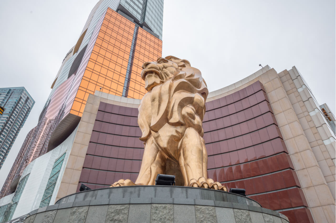 MGM lion at Macau