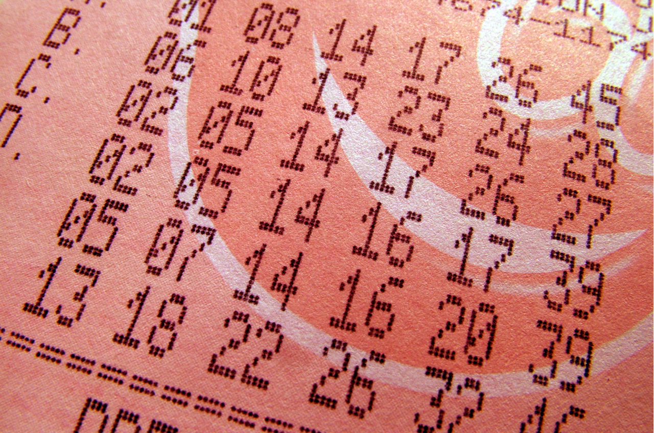numbers on lottery ticket