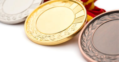 gold silver and bronze medal